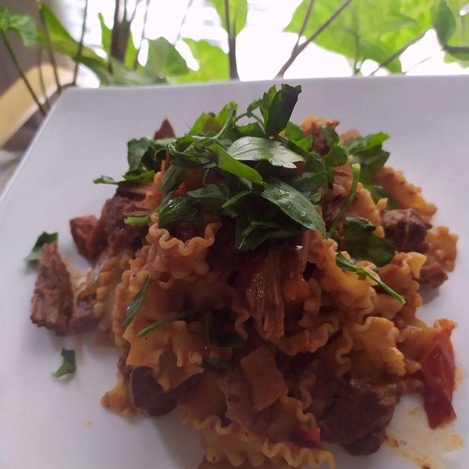 Náhľad receptu Dusené hovädzie s tagliatele