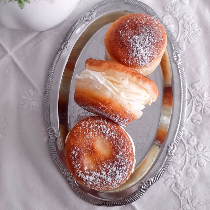 Náhľad receptu Luxusné šišky s dvojitým krémom