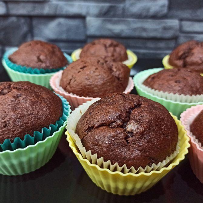 Náhľad receptu Čokoládovo-banánové muffiny