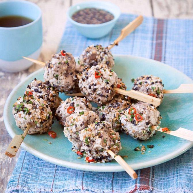 Náhľad receptu Teľacie mäsové guličky s Yakitori omáčkou