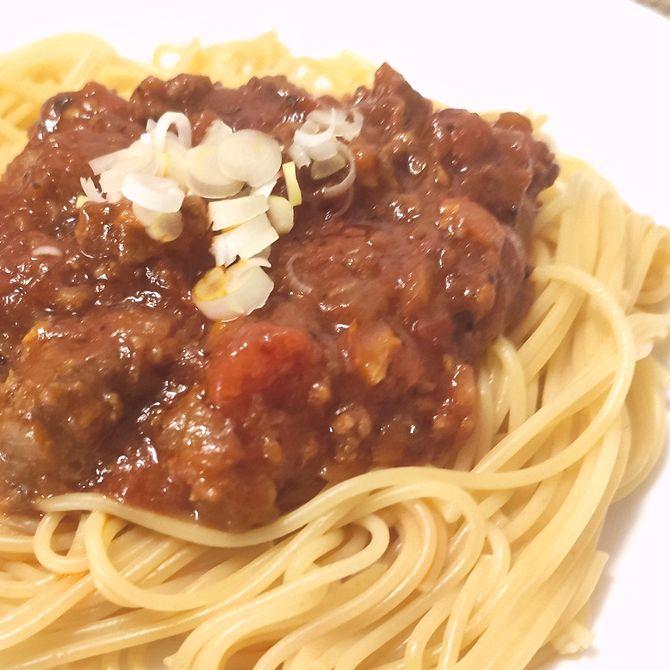 Náhľad receptu Špagety s mletým hovädzím mäsom