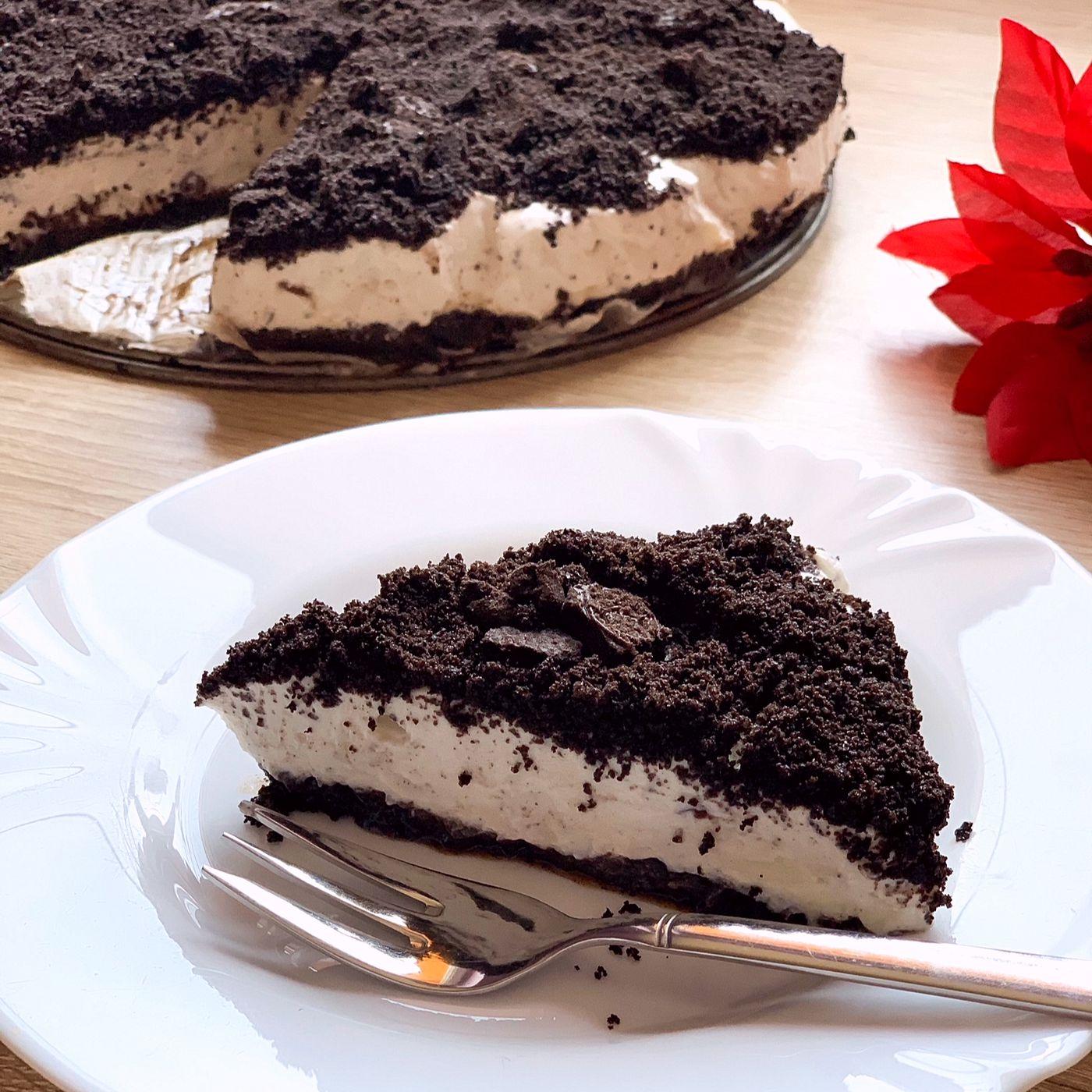 Nepečený oreo-straciatella cheesecake