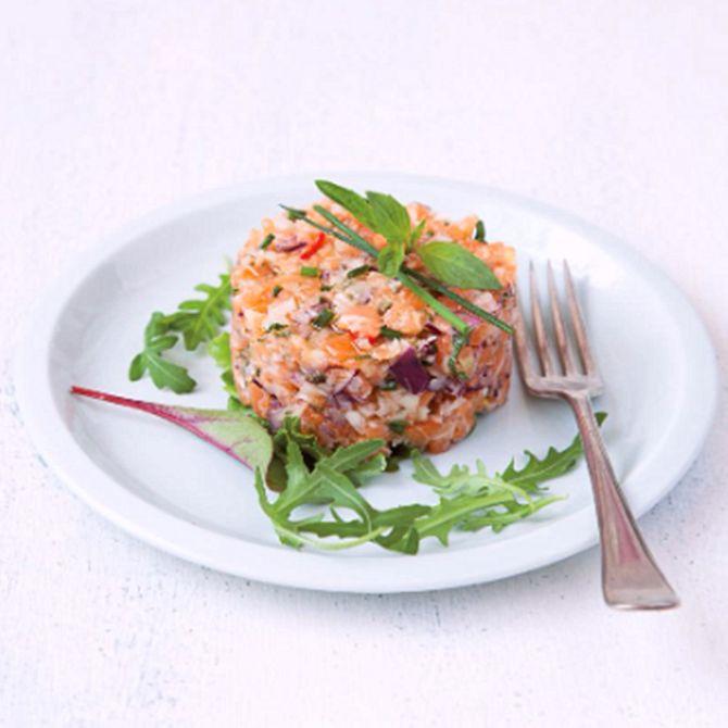 Náhľad receptu Ázijský lososový tatarák