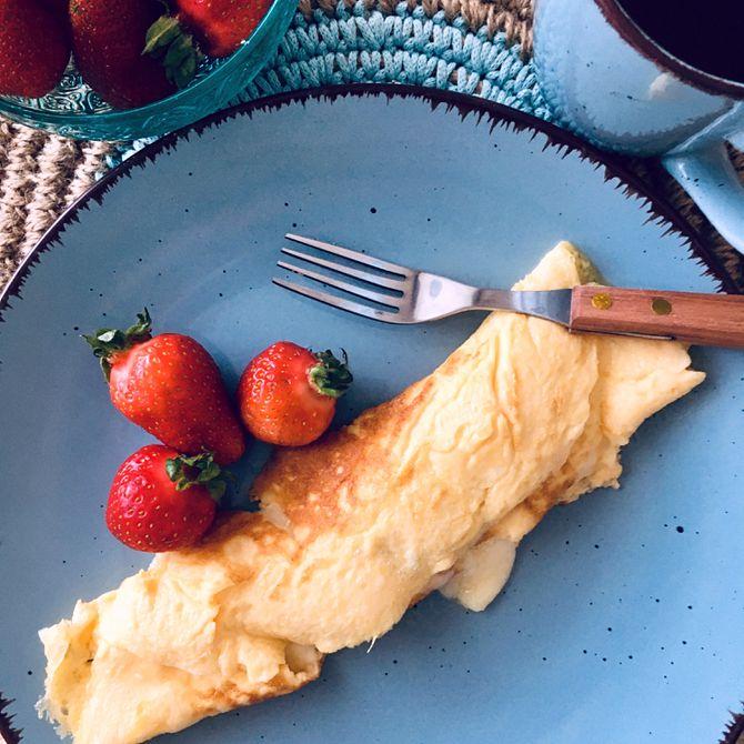 Náhľad receptu Vaječná omeleta s jahodami