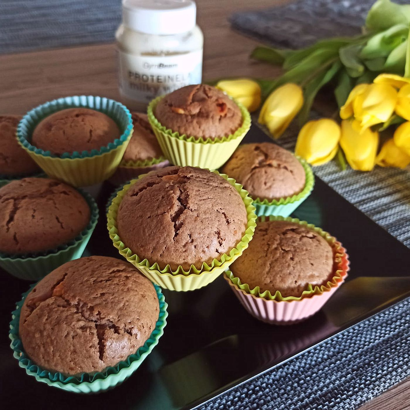 Muffiny s proteinellou