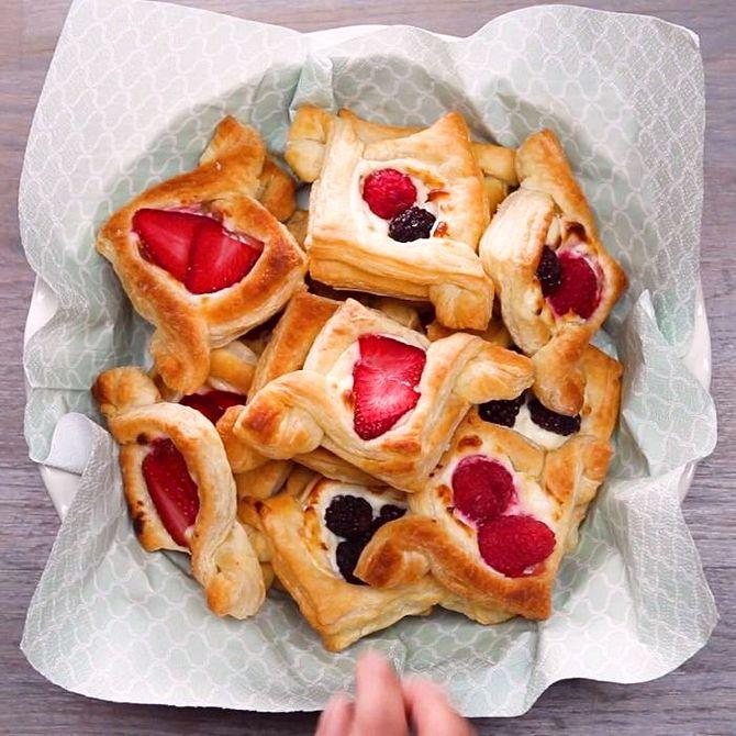 Náhľad receptu Ovocné taštičky z lístkového cesta