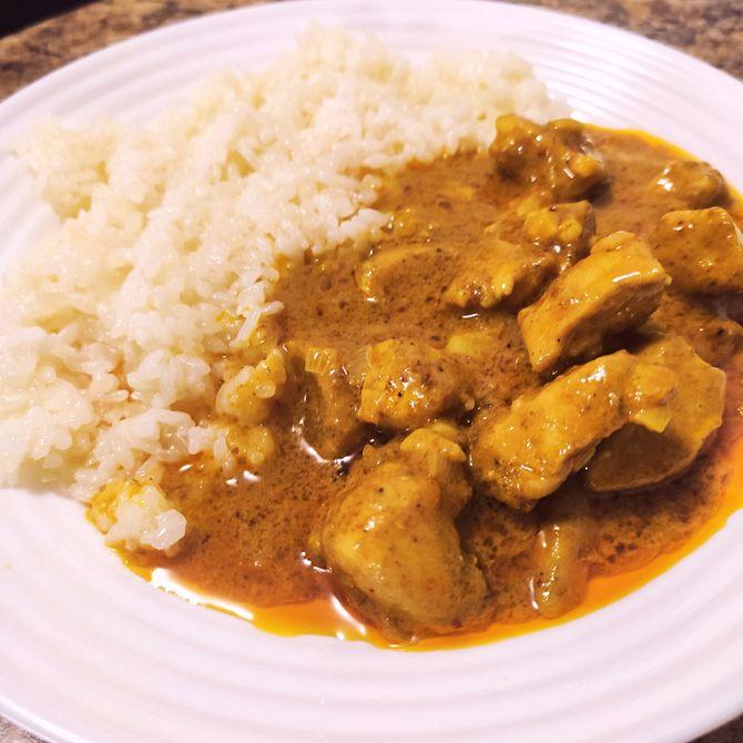 Náhľad receptu Rýchle a jednoduché kuracie na kari s ryžou