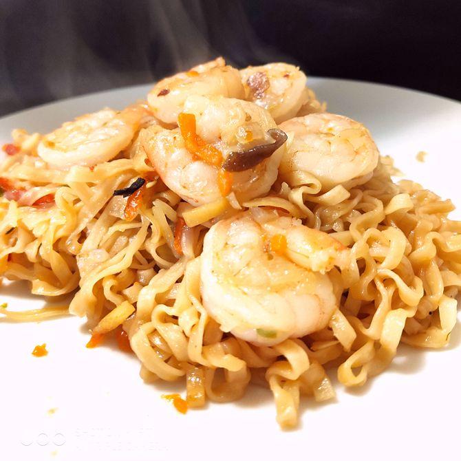 Náhľad receptu Krevety s čínskymi rezancami